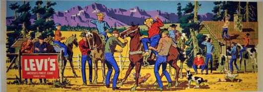 1950's Levi's Jeans Dude Ranch Advertisement