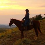 HorseWorks Horseback Ride Sunset