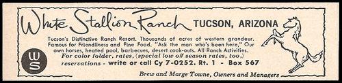White Stallion Ranch 1964 Newspaper Ad